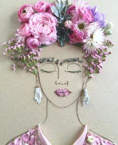 """Nothing is absolute, everything changes, everything moves, everything revolves, everything flies away..."" ~Frida Kahlo Happy Frida Frida! This work by me - Vicki @sistergoldenshop"