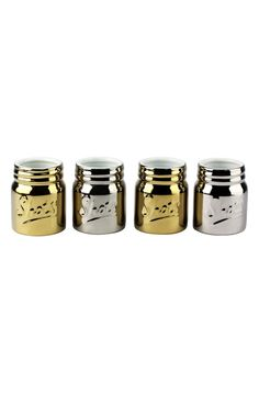 Barbuzzo Ceramic Mason Jar Shot Cups (Set of 4)