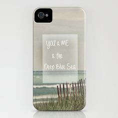 You & Me & The Deep Blue Sea iPhone Case quote, beeach