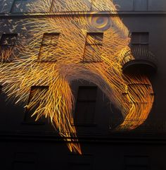 Striking Mural of an Eagle in Berlin by DALeast.
