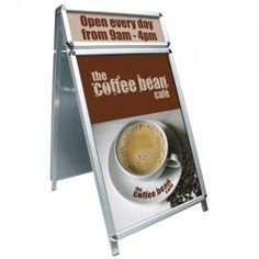 A Master Plus with a header and main board. Header can take printed or vinyl displays size with poster space either side. Price plus VAT free local delivery. Waterproof posters are plus VAT. A0 Poster, A1 Size, Poster Display, Sandwich Board, Exhibition Display, On The High Street, Pavement, Boards, How To Apply