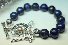 Lapis Lazuli Bracelet Lapis Hand Knotted Bracelet by CaveGemstones, $35.00 #lapis #bracelet