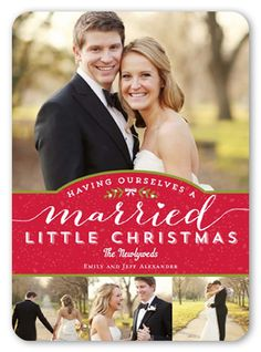 Married Little Christmas 5x7 Stationery Card by Berry Berry Sweet | Shutterfly