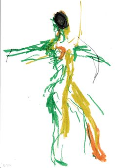 Patrik Zettergren: Dance drawing (Oil Pastell)