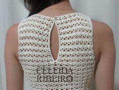 Vestido tubinho em crochê, tecido com fio fino em algodão,(3 novelos e meio tropfil , agulha 1,50 Ou 1,75 ) muito leve e super elegante!! Ta...