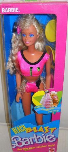 Barbie Beach Blast Barbie Box # 3237 Value and Details