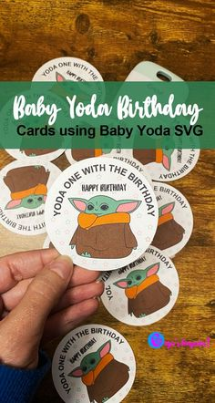 Make these cute Baby Yoda Birthday cards using our Baby Yoda SVG we drew to pass out to your clas... Make Your Own, Make It Yourself, How To Make, High School Classroom, Print And Cut, Our Baby, Cute Babies, Card Stock, Birthday Cards