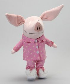 Bunny slippers! Take a look at this OLIVIA Singing Bedtime Plush Toy by OLIVIA on #zulily today!