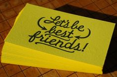Let's be friends! I need to make something like these (but maybe ditch the best since it seems a bit fake?)