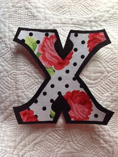 custom iron on letters in betsey johnson inspired fabric