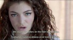 Lorde Royals Lyrics Subtitulado al Español and English Lorde Royals Lyrics, Songs To Sing, Sound Of Music, Singing, Train, Hair Styles, Youtube, English, The World