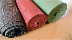 Hemp Yoga Mat and Natural Rubber Yoga Mat