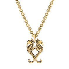 Two seahorses and an anchor, hard to go wrong there. Real Love, My Love, Seahorses, Aquarius, Anchor, Sailor, Jewelry Box, Goodies, Gold Necklace