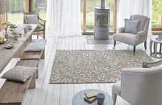 Undeniably iconic the Willow Bough is one of Morris most recognisable designs. Entwining stems and delicate willow leaves combine for a tranquil natural effect rug. Available in Granite Ivory and Mole. Florence Broadhurst, Bluebellgray, Willow Leaf, Blue China, India, Indoor Rugs, William Morris, Soft Furnishings, Mole