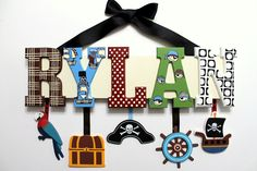 Pirate Name Sign (10 Letters) for Nursery