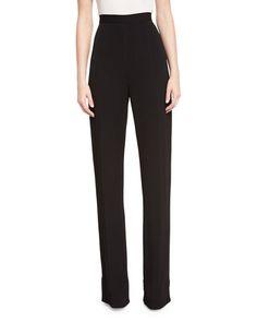 BRANDON MAXWELL Classic Suiting Trousers, Black. #brandonmaxwell #cloth #