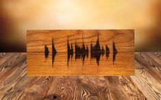 Personalized Soundwave Wood Pyrography Art Custom Wood Burned Art Custom Wood Burned Sign Birthday Gift Gift for Him Gift for Her (19.99 USD) by 1stWoodStock