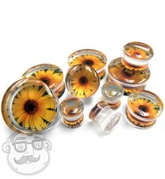 Sunflower Clear Plugs