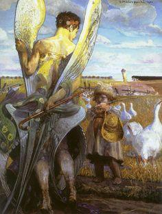 Rafael en Tobit Jacek Malczewski 1901 (Muzeum Narodowe w Warszawie) Georg Christoph Lichtenberg, Angels Among Us, My Demons, Victorian Art, Art Database, Oil Painting Reproductions, Angel Art, Fine Art, Klimt