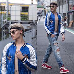 #denim #pants #jeans #cutjeans #street #streetwear #menswear #ootd #outfit #black #blue #bomber #bomberjacket #souvenirjacket #street #streetstyle #style #tokyo #japan #japanstyle   more on my blog: rdslav.com