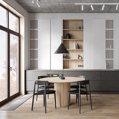 Loft Kitchen, Kitchen Interior, Home Interior Design, Japanese Interior, Japanese Design, Bathroom Design Luxury, Pantry Design, Dining Room Inspiration, Decoration