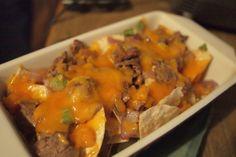 Philly Cheesesteak nachos