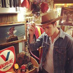 I sense a theme here... #CelebrateKris in a cowboy hat!
