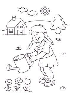 83 meilleures images du tableau coloriages enfants coloring pages children et small boy - Coloriage fleur gs ...
