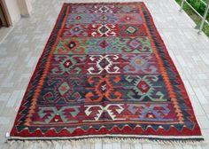 Anatolia-Turkish-Kilim-Rug-64-x-122-Vintage-Hand-Woven-Wool-Kelim-53x102
