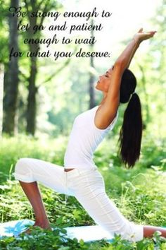 Yoga Woman STRENGTH PATIENCE Motivational Poster Quote 24X36 peaceful serene