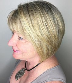 Ready to finally find your ideal Undercut Hairstyles? From Undercut Hairstyles For Older Ladies, you can ultimate resource to get the hottest hairstyles and hai Blonde Bob With Bangs, Bob Haircut With Bangs, Undercut Hairstyles, Hairstyles With Bangs, Gorgeous Hairstyles, Fine Hairstyles, Grey Hairstyle, Undercut Pixie, Layered Hairstyles