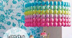 Que fofo!!! Com  bolas de ping-pong !     Você pode aproveitar uma estrutura de lustre ou abajur usada da qual está cansada (pode enc...