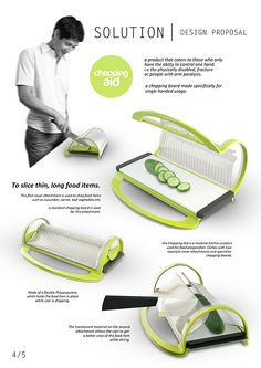 Chopping Aid - design for the physically disabled Handicap Accessible Home, Adaptive Equipment, Assistive Technology, Occupational Therapy, Disability, My Design, Product Design, Sensory Play, Utensils