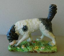 Early Pearlware Staffordshire Setter Dog