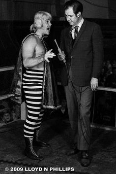 Another of my daddy, Frank Bonnema.  He was so thin!  Portland Wrestling...probably in the late '60's or early 70's.