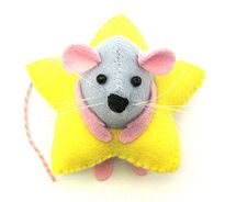 christmas decoration star ornament mouse felt rat hamster mice cute gift for animal lover - ray the mouse in a star costume picture on Visua...