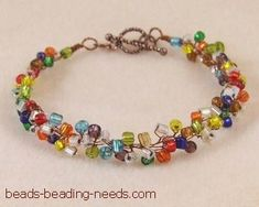 Free beaded bracelet pattern with easy beading instructions for this beautiful seed bead bracelet design, created with fine jewelry making wire.