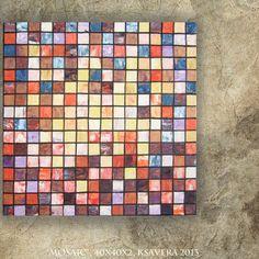 Mosaic Art for kitchen Original Palette Knife by KsaveraART