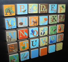 Kids Animal Alphabet Magnets Learn Your Abc's