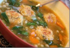 Vegetarian Italian Wedding Soup by Peas and Thank You Entree Recipes, Wine Recipes, Soup Recipes, Vegan Recipes, Small Pasta, Wedding Soup, Vegetarian Italian, Soup And Salad, Soups And Stews