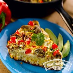 Sausage Pepper Cheese Quiche with Cornbread Crust from Martha White®