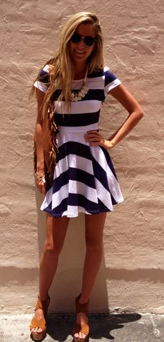 The Nautical Darling Dress - Boca Leche