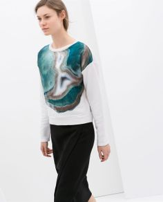 Image 2 of LONG SLEEVE SWEATSHIRT from Zara