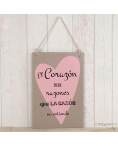 #Cuadro romántico con #corazón y con #frase para decorar eventos