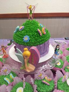 Giant Tinkerbell Cupcake! Made by me!