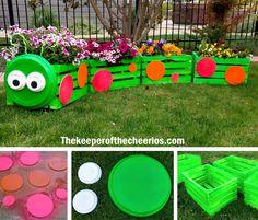 Caterpillar Crate Planter