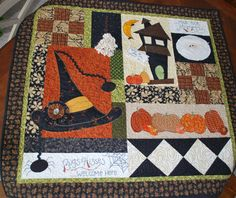 """""""Home Is Where The Haunt Is"""" by Kimberbell Designs. Pieced by Kristin Andersen. Quilted by Leisha Farnsworth."""