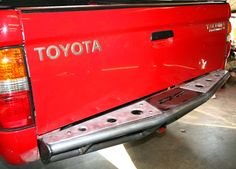DEMELLO OFF-ROAD REAR PRE-RUNNER BUMPER The DeMello Off-Road pre-runner bumpers are built from round tube wall. We use a mounting plate with built in shackle recovery tow point. The bumper also feature's a built in receiver. Toyota Tacoma Prerunner, Toyota 4x4, Toyota Trucks, Toyota Tacoma Sr5, Toyota Tundra, Tacoma Accessories, Off Road Truck Accessories, Truck Bed Tool Boxes, Tacoma Bumper