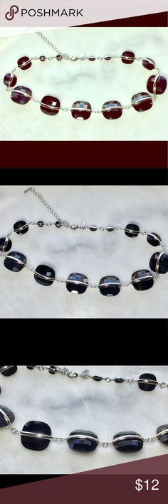 "Lia Sophia Black & Silver Statement Necklace Excellent condition! 17"" long with 3"" extender. Cleaned ultrasonically just for you. 😊 Lia Sophia Jewelry Necklaces"
