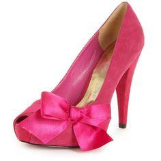Paris Hilton Shoes, Destiny Peep Toe Platform Pumps ($89) ❤ liked on Polyvore